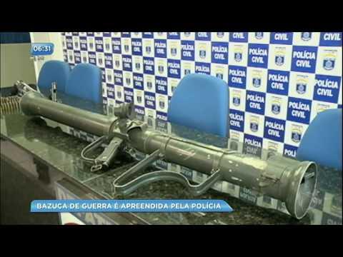 Bazuca de guerra é apreendida pela polícia em Pernambuco