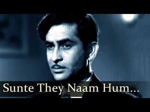 Aah  Sunte The Naam  Raj Kapoor  Vijay Laxmi  Bollywood Romantic Songs  Lata Mangeshkar