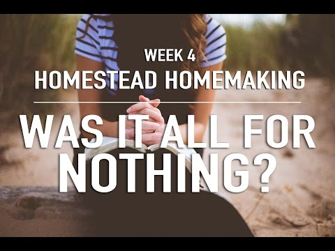 Homestead Homemaking | WEEK 4 CLEAN UP & A STORY