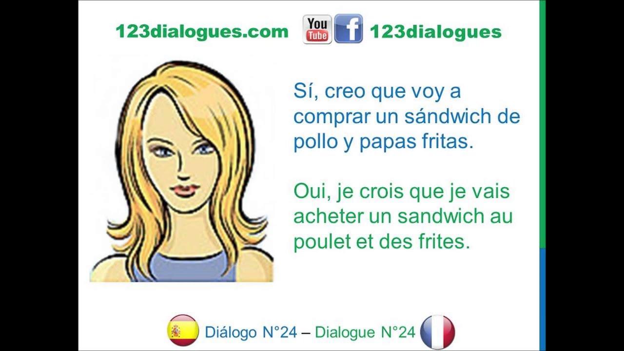 Di logo 24 espagnol franc s comida almuerzo d jeuner for Almuerzo en frances