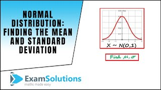 Normal Distribution Finding tнe Mean and Standard Deviation