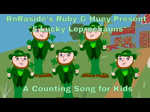 Counting Song -5 Lucky Leprechauns - for kids/preschool- Baby Songs-Super Simple Songs