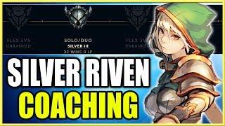 SILVER 2 RIVEN COACHING | TIPS TO WIN LANE HARD! - League of Legends