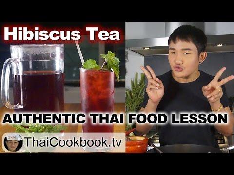 How to Make Thai Roselle Drink | Nam Krajieb (น้ำกระเจี๊ยบ) | Hibiscus Flower Infusion Tea