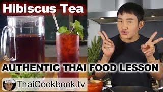 Authentic Thai Recipe for Hibiscus Flower Drink