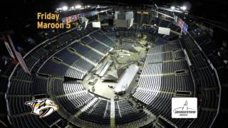 Bridgestone Arena Feb timelapse