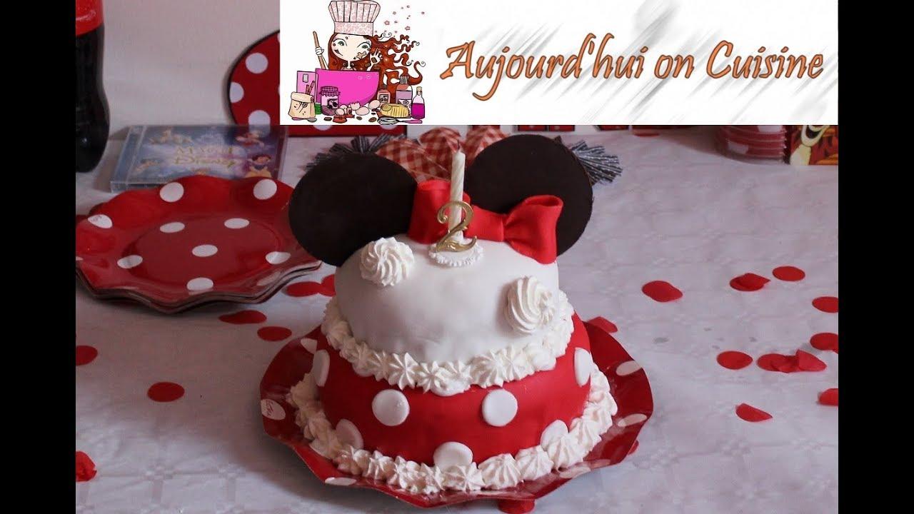 Aujourdhui On Cuisine Son Gâteau Danniversaire Minnie
