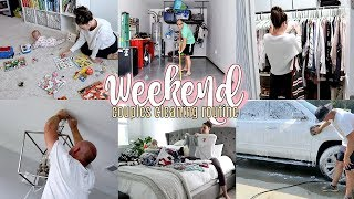 CLEAN WITH ME | COUPLES CLEANING ROUTINE | WEEKEND CHORES