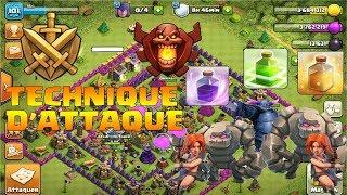 CLASH OF CLANS/MA TECHNIQUE D'ATTAQUE!!!