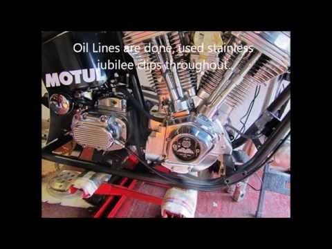 Harley Evo big twin 127 cubic inch drag bike build