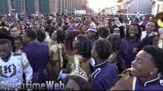 edna karr vs mcdonogh 35 high marching band 2017 mardi gras parade