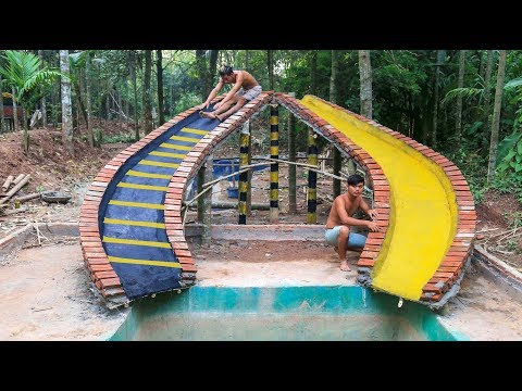Build water slide swimming pool update