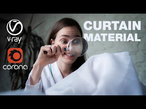 Photorealistic material in Corona & V-Ray for 3ds max - CURTAIN