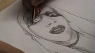 speed drawing marilyn manson