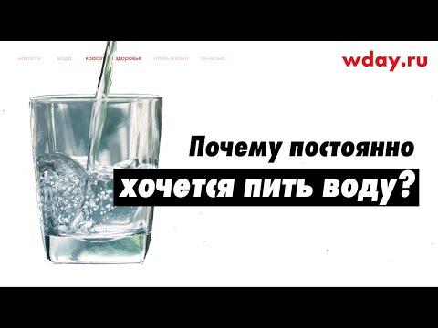 Почему постоянно хочется пить воду?