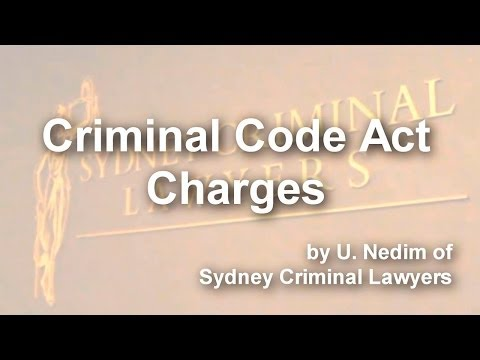 Criminal Code Act Charges