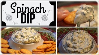 Spinach Dip I Holiday Appetizer I How to make Spinach Dip