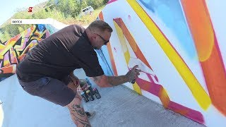 Граффити-художник из Англии провел мастер-класс в Якутске