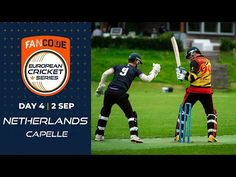 🔴 FanCode European Cricket Series Netherlands, Capelle Day 4 | T10 Live Cricket