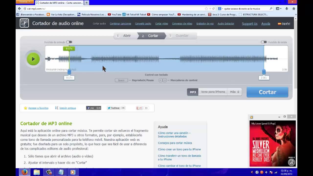 Como Cortar Musica Mp3 Sin Programa Youtube