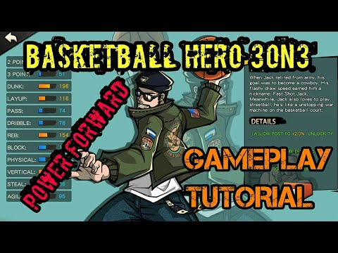 Basketball Hero Power Forward (PF) Pro Gameplay Tutorial