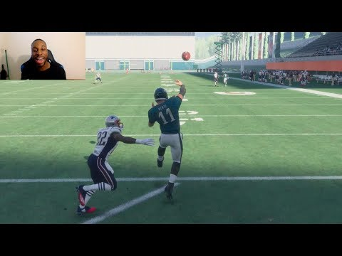 Who Can Throw a 99yd TD Pass First? Tom Brady, Carson Wentz or Nick Foles? Madden Gameplay
