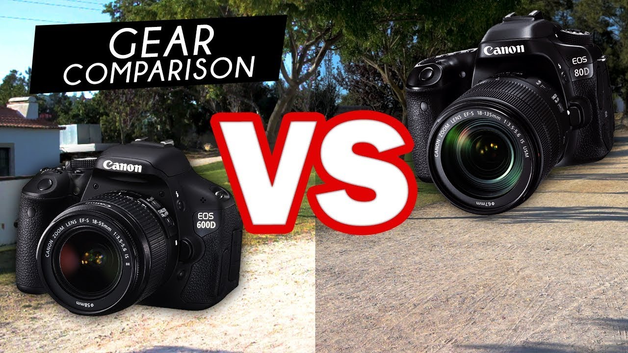 Canon 600D VS 80D - VIDEO COMPARISON