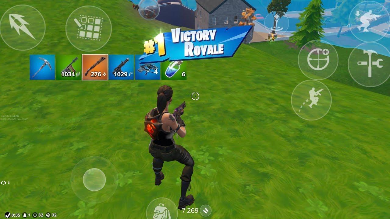 32 Kill Solo Squads - iPad mini 5 - Fortnite mobile (Gameplay)