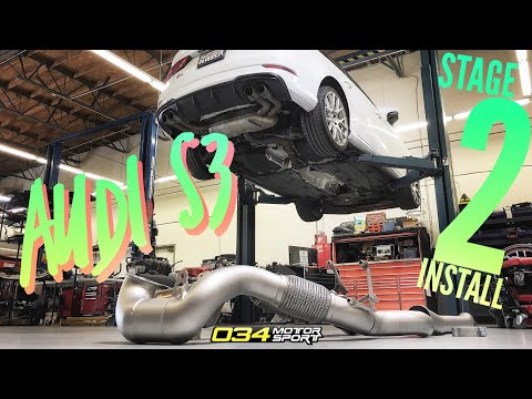 AUDI S3 Stage 2+ HOW TO INSTALL and DYNO Pulls!!!! [4K]
