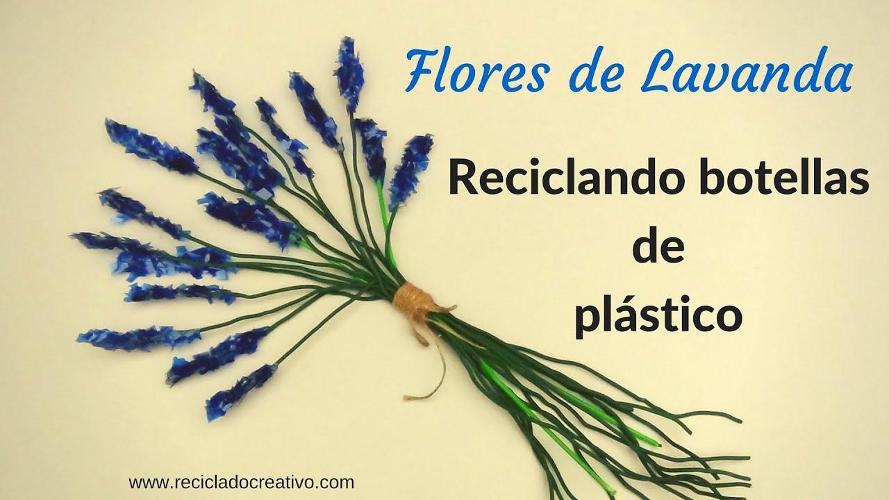 Diy c mo hacer flores de lavanda con botellas de pl stico - Flores de plastico ...