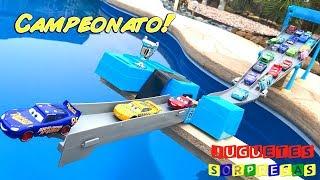 Carros de Carrera para niños - Pista de Coches CARS 3 CAMPEONATO CIRCUITO FLORIDA SPEEDWAY RACE-OFF