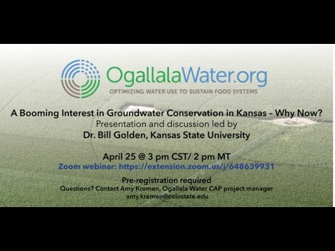 A Booming Interest in Groundwater Conservation in Kansas--Why Now?