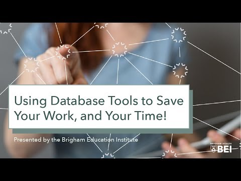 "Medical Library ""How To"" Series: Using Database Tools to Save Your Work, and Your Time! on YouTube"