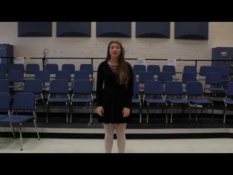 University of Colorado at Boulder Musical Theatre Audition Video, Madlynn Bard
