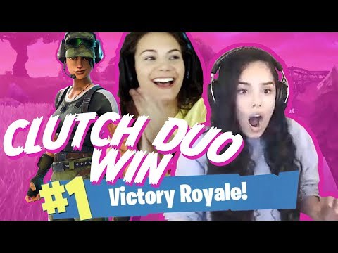 OUT OF MATS! Clutch Duo Win with AlexiaRaye! - Valkyrae Fortnite