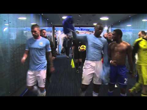 Yaya Toure and Samuel Eto'o swap shirt | City 0-1 Chelsea