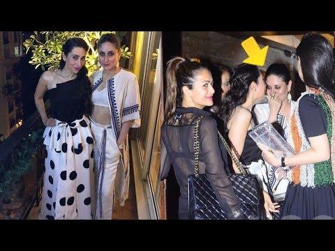 Karisma Kapoor Kisses sister Kareena Kapoor as a protective elder sister at Malaika Arora Party ● Mp3