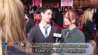 Debby Ryan & Adam DiMarco 'John Carter' Premiere Interview