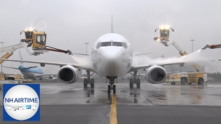 DE-ICING BOEINGS and EMBRAER at SCHIPHOL AIRPORT