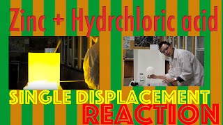 zn hcl in a single displacement reaction