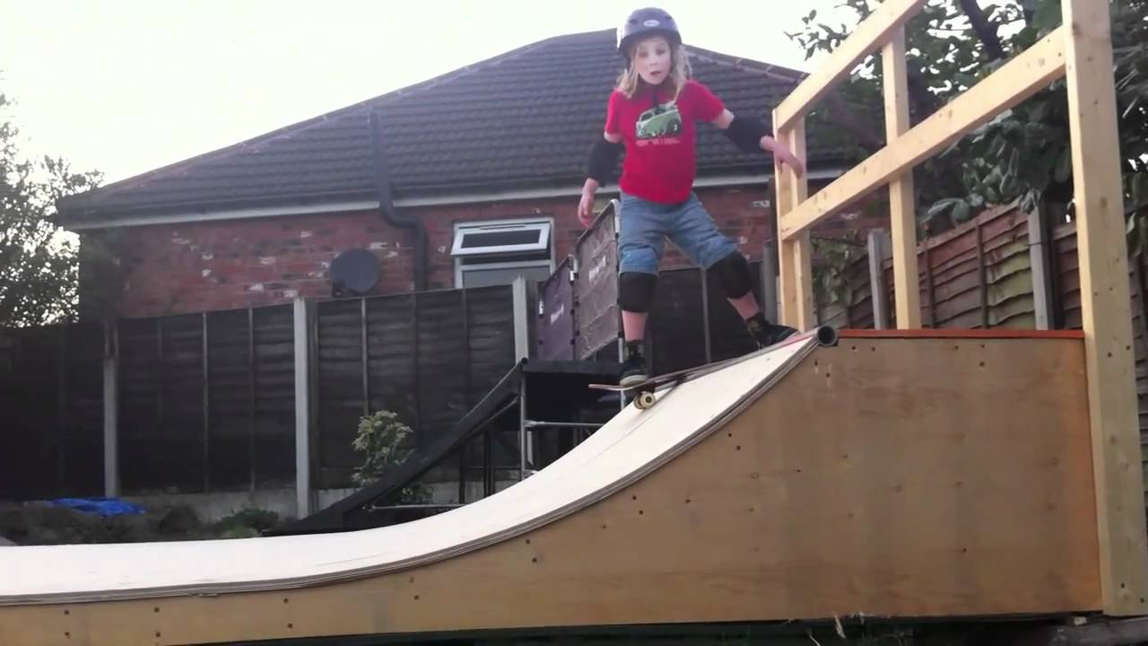 Jake on the backyard mini ramp YouTube – Garage Mini Ramp Plans