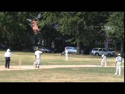 Marvin Darlington batting in cricket for Lucas CC