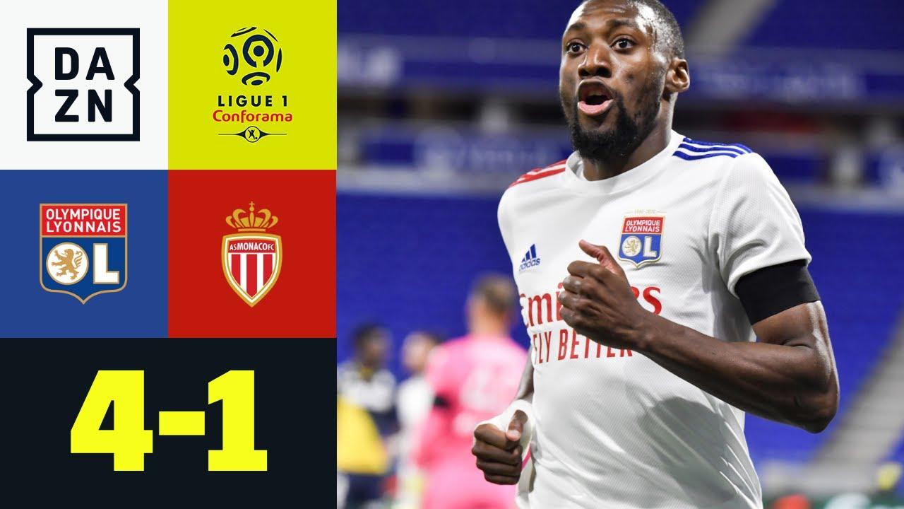 Doppelpack Ekambi - Monaco gefährlich wie Bambi: Olympique Lyon - AS Monaco 4:1 | Ligue 1 | DAZN