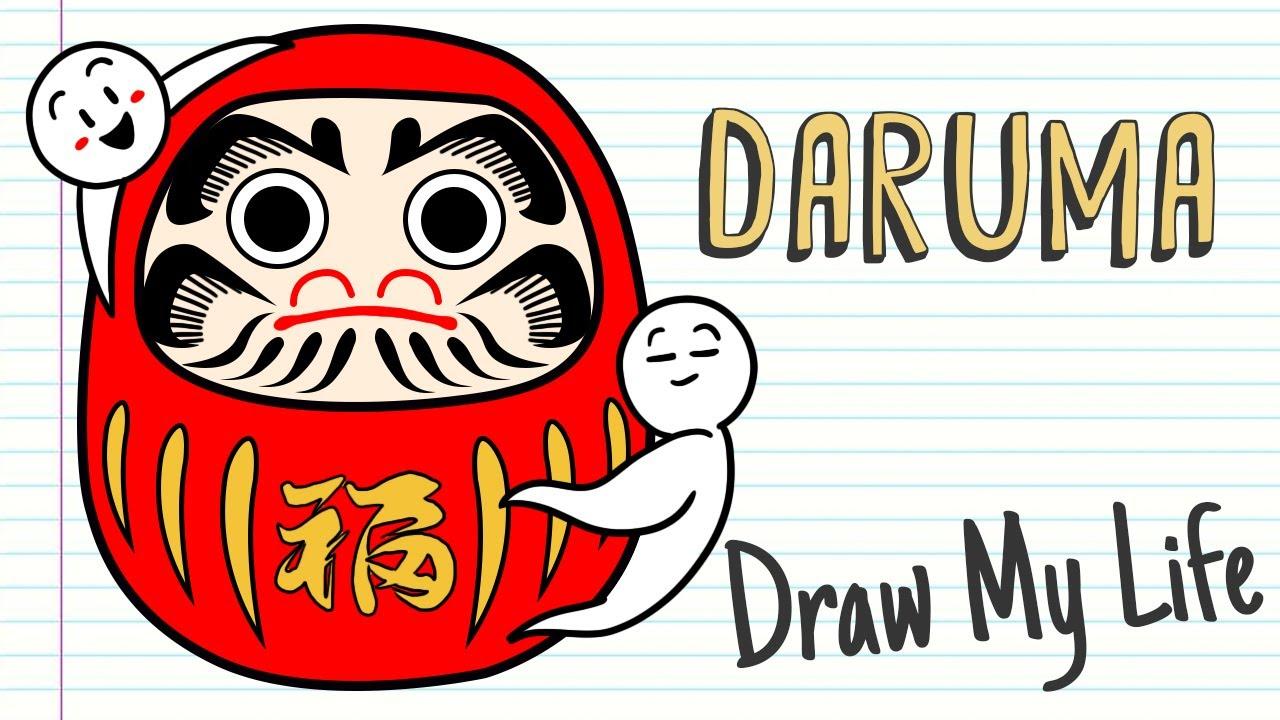 DARUMA, THE AMULET OF PURPOSES IN JAPAN | Draw My Life