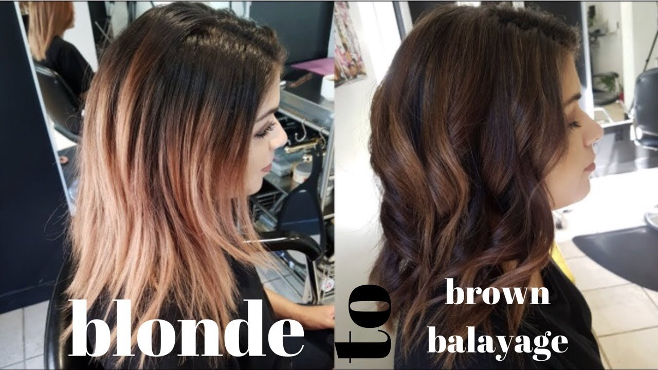from BLONDE to DARK BROWN BALAYAGE