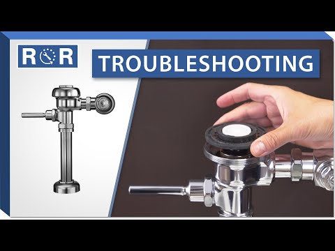 Troubleshooting A Sloan Regal Flushometer | Repair And Replace