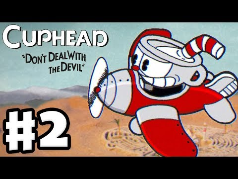 Cuphead - Gameplay Walkthrough Part 2 - Don't Deal with the Devil! World 2 Bosses! (PC)