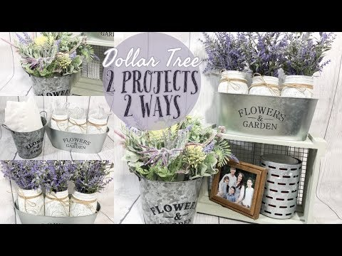 DOLLAR TREE FARMHOUSE DIYs | EASY SPRING DECOR | DOLLAR TREE IDEAS