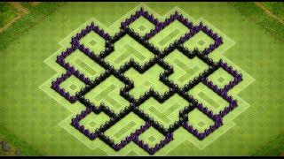 Clash Of Clans - Epic Town Hall 8 Dark Elixir Farming Base (Palatua) Speed Build