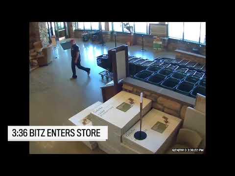 Video: Security footage of Leonard Banga and Jesse Bitz